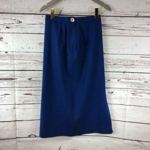 Pendleton Wool Skirt Midnight Blue pleated